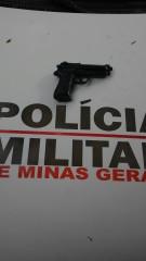 Arma utilizada no crime.