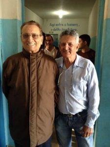 Mário Ottoboni e o presidente da Apac Francisco José de Miranda