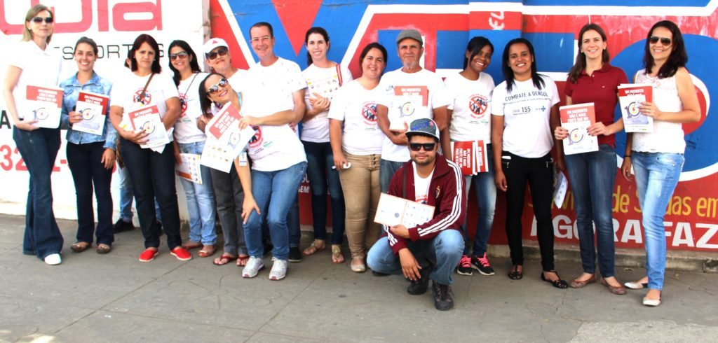 Iniciativa teve a participação de agentes de endemia, agentes de saúde e colaboradores da Pharlab / Foto: Sabrina Silva