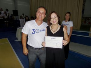 Diretor Nei Cabral e Isamin Couto, diretora da Apae